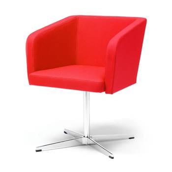 Czerwony fotel konferencyjny