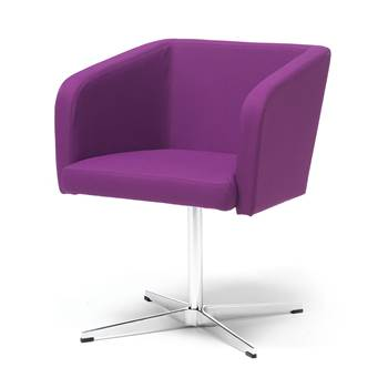 "Conference chair with ""star"" legs : Purple"