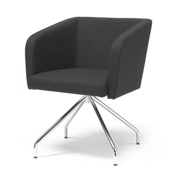 "Conference chair with ""spider"" legs: Black"
