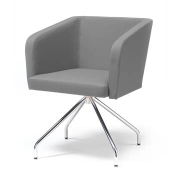 "Conference chair with ""spider"" legs : Grey"