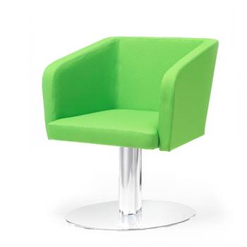 Conference chair with round plate: Green