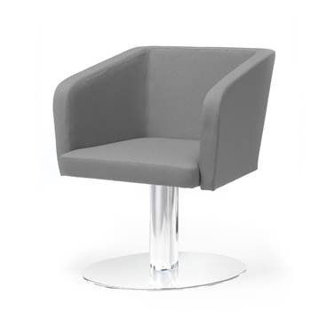 Conference chair with round plate: Grey