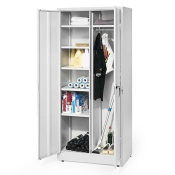 Säilytyskaappi, 1000x1000x400 mm, valkoinen, harmaat ovet