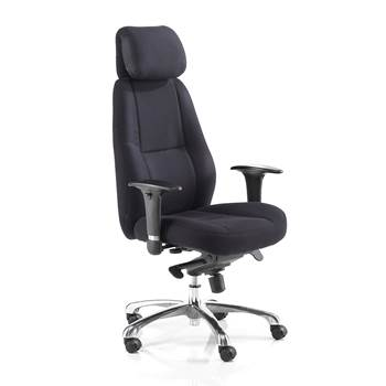 """Neptunus"" office chair: high back: black"