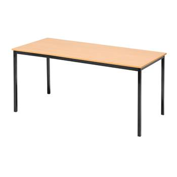 Canteen table, 1800x800x735 mm, beech laminate, black