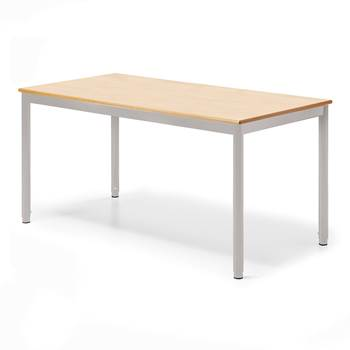 Pöytä Campus, pituus 1200 mm, Syvyys (mm):700, Hopea, Pyökki