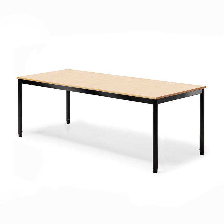 Pöytä Campus, HPL, pituus 1600 mm, Syvyys (mm):800, Musta, P