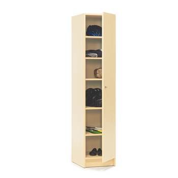Wooden locker with shelves, 1850x400x530 mm, birch