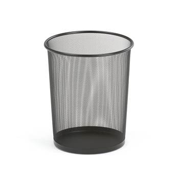Waste paper basket, Ø 295x355 mm, 20 L, black