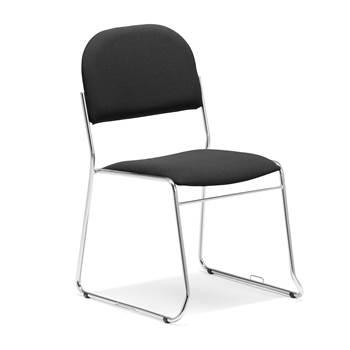Czarne krzesło konferencyjne z ramą chrom