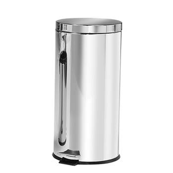 Steel pedal bin, Ø 290x650 mm, 30 L, stainless