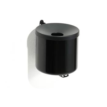 Wall mounted ashtray, Ø 160x160 mm, black