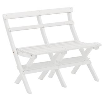Folding 2-seater bench