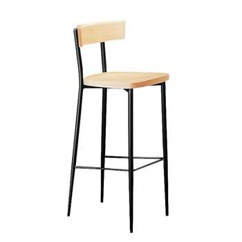 Stylowy stołek barowy ze stelażem czarnym