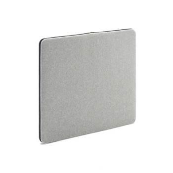 Anslagstavla/ljudabsorbent, 800x650 mm, ljusgrå, svart blixtlås