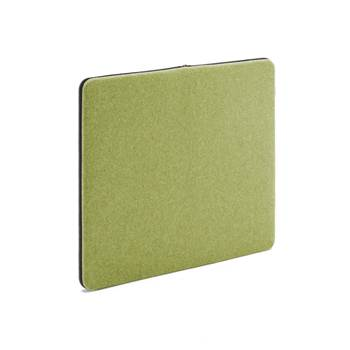 Anslagstavla/ljudabsorbent, 800x650 mm, grön, svart blixtlås