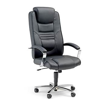 Essex office chair, H 420-510 mm, black faux leather