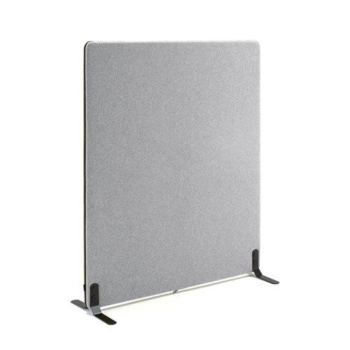 #en Screen, 1200x1400 mm, light grey with black zipper