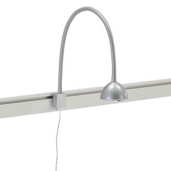 Lampa till bordsskärm, silver