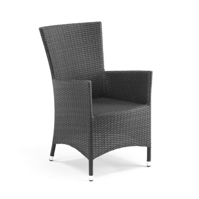 Outdoor armchair: black rattan | AJ Products Ireland