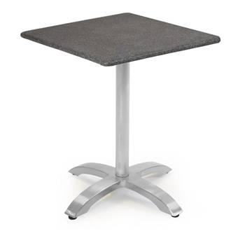 Cafébord med Spraystoneskiva & aluminiumstativ