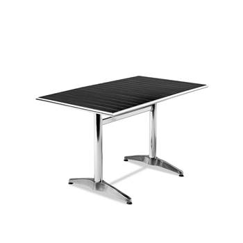 Rectangular outdoor table, 1200x700 mm, aluminium, black