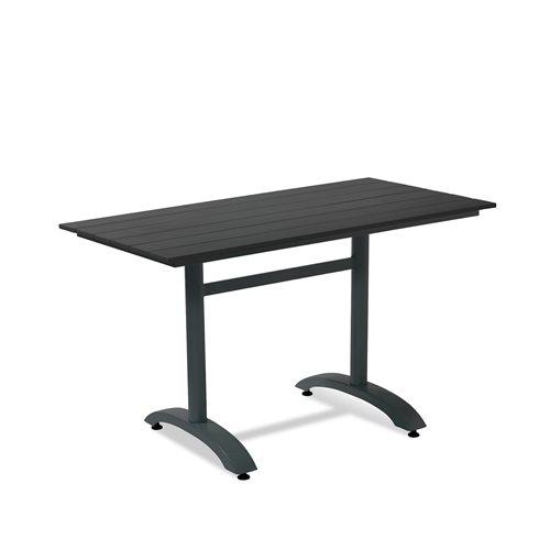 Suoralkulmainen kahvilapöytä 1200x700 mm musta/musta