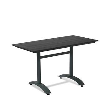 Rectangular café table, 1200x700 mm, black, black