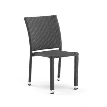 Stackable café chair, black rattan