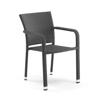#en Chair (stack), black, flat wicker