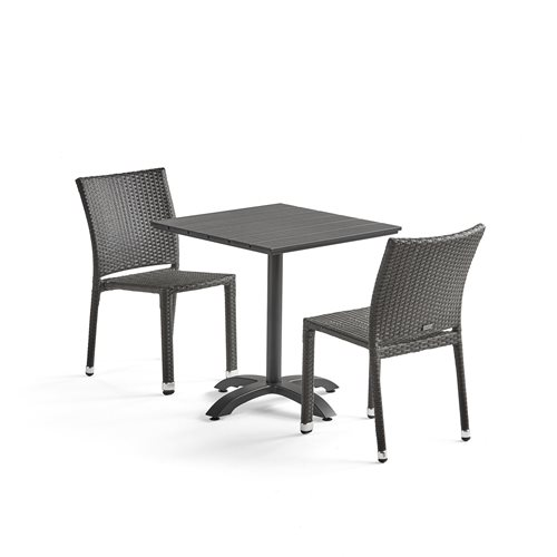 Cafe table + 2 chairs