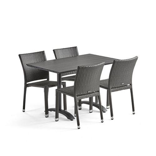 Zestaw mebli zewnętrznych 4 krzesła + stół