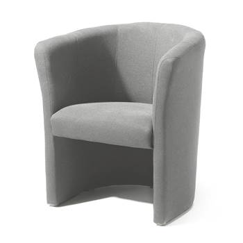 Club armchair, grey fabric