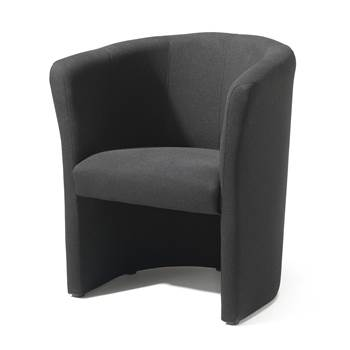 Club armchair, black fabric