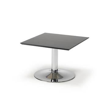Soffbord, 700x700 mm, svart, kromat stativ