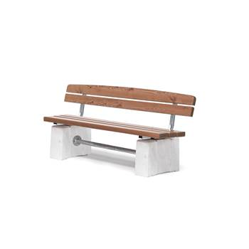 Heavy duty park bench