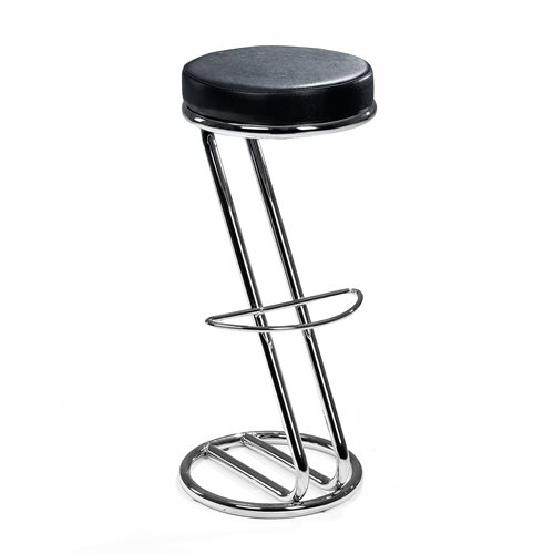 Bar stool: chrome/skai