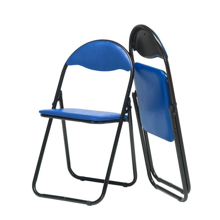 Klappstol, Blå vinyl