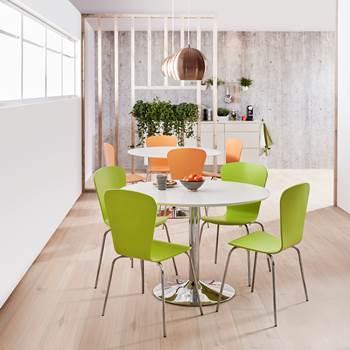 Krzesło z giętkiej sklejki, Kolor:, Zielony