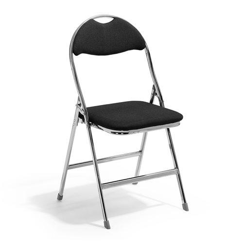 Czarne krzesło składane