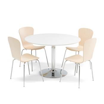 Lunchrumsgrupp, 1 bord + 4 stolar