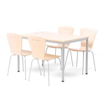 Small canteen group in birch