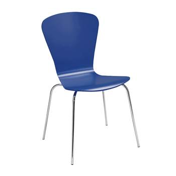 Milla stackable chair, figure, cornflower blue