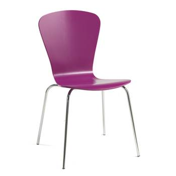 Milla stackable chair, figure, lilac