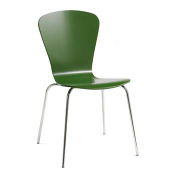 Milla stackable chair, figure, dark green
