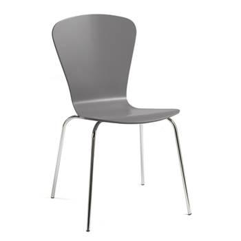 Krzesło z giętkiej sklejki, Kolor:, Szary