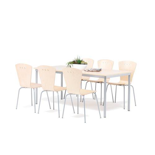 Zestaw do jadalnu - stół + 6 krzeseł