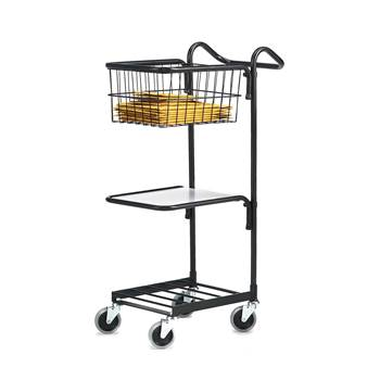 Mini trolley, 1 shelf + 1 basket, 660x360x1070 mm