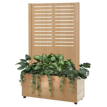 Trellis trough screen, line, 1720x940x400 mm, beech veneer