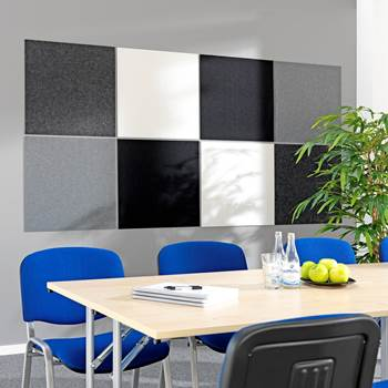 Sound absorbing panels, 600x600x9 mm, 8-pack